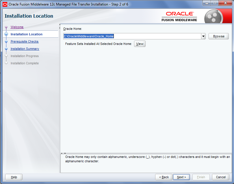Oracle MFT Installation
