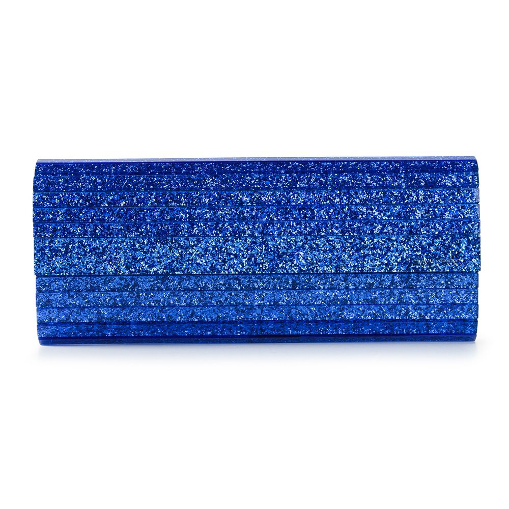 99124d50563e JIMMY CHOO SWEETIE AEGEAN GLITTER ACRYLIC CLUTCH BAG - Reed Fashion Blog