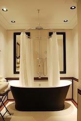 Cortina moderna para baños