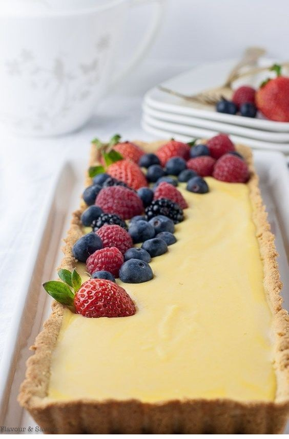 Gluten-Free Lemon Curd Tart With Berries