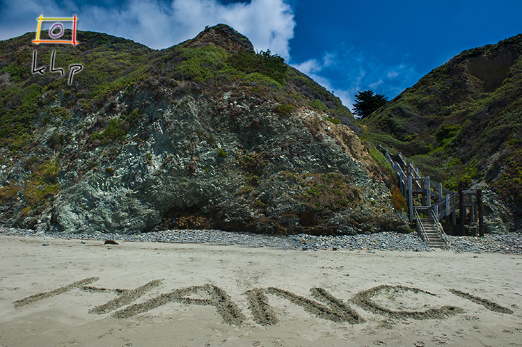 Hanci Family left its temporary mark at the Sand Dollar Beach in Big Sur
