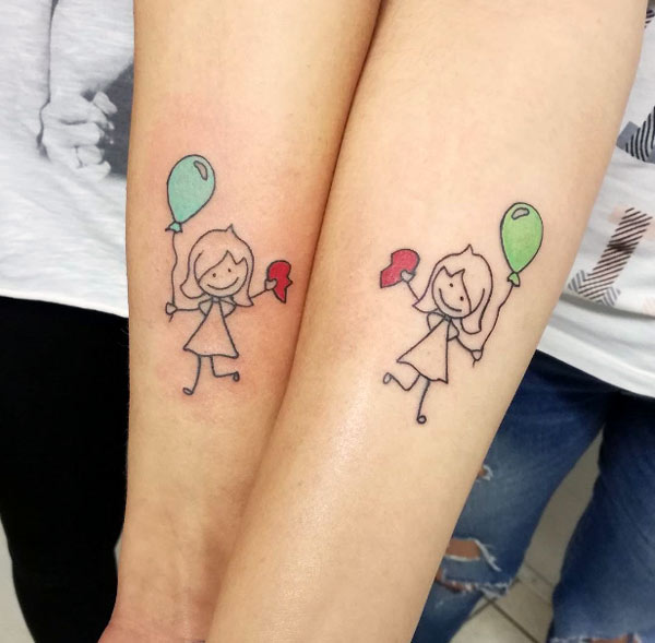 Tattoos design ideas 32 best friend tattoos matching for Cute best friend tattoos