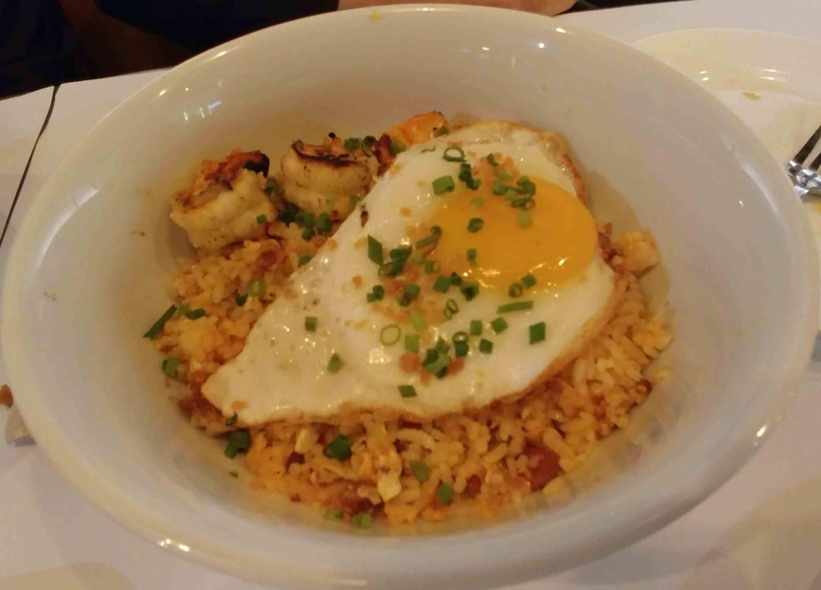 Burnt Edges by Shrimp Bucket's Pork Chorizo Rice and Shrimp