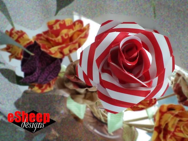 ribbon flower by eSheep Designs
