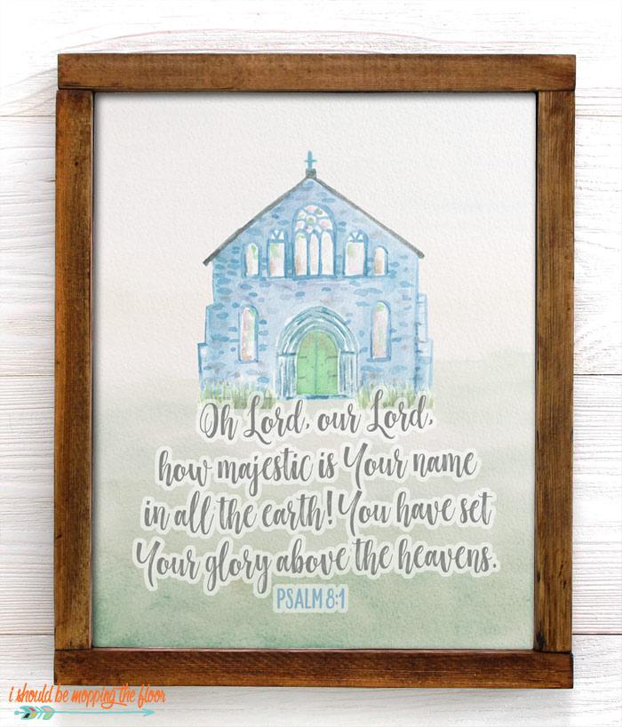 Psalm 8:1 Printable