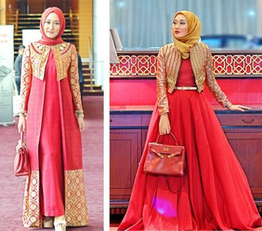 Trend Model Baju Muslim Lebaran Idul Fitri Terbaru 2016 Modern   Elegan 3ae249cbb5