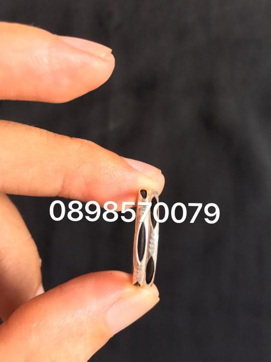 Mẫu nhẫn lông voi cặp bạc 925 so le trẻ trung cá tính