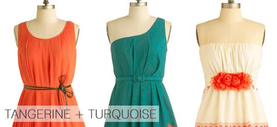 Tangerine + Turquoise