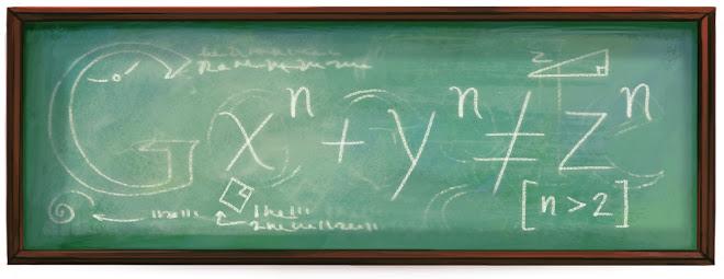 Doodle em homenagem ao matemático Pierre de Fermat