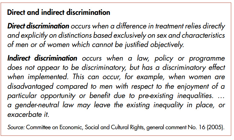 direct and indirect discrimination Simon forshaw, marcus pilgerstorfer direct and indirect discrimination: is there something in between, industrial law journal, volume 37, issue 4.