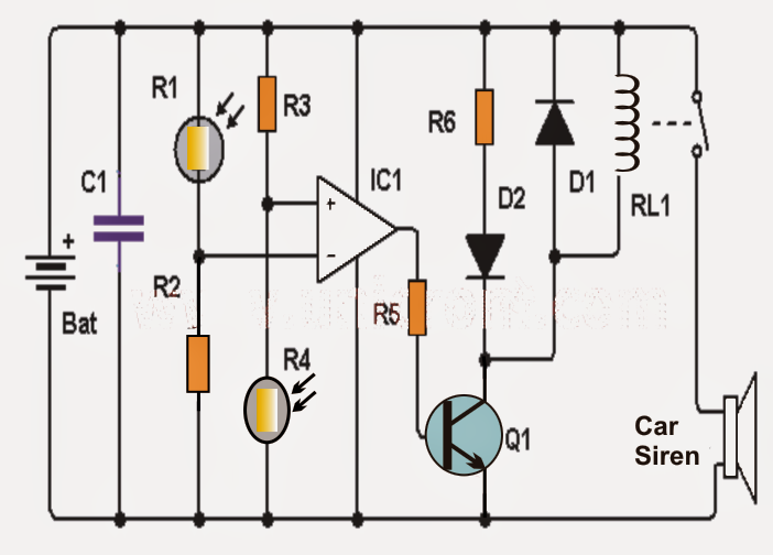 Simple Shadow Detector Circuit ~ Electronic Circuit Projects