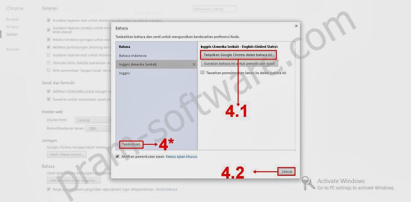 Mengganti Bahasa Google Chrome