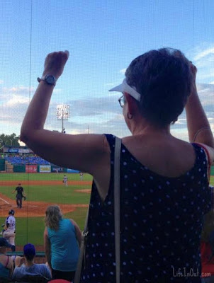 Yep, it's really me, doing the Chicken Dance at a recent baseball game.