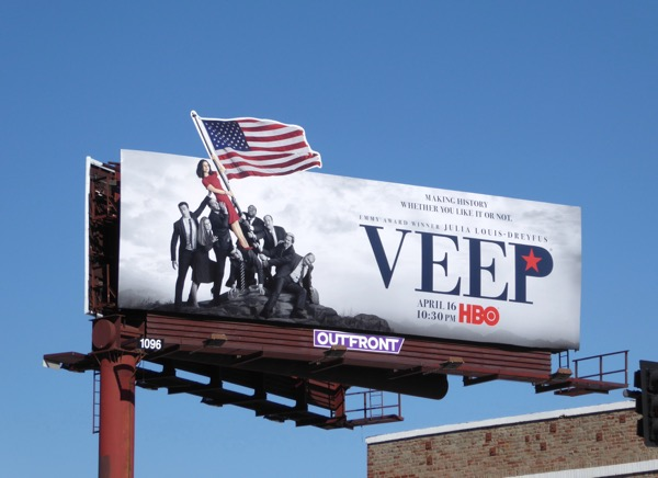 Veep 6 Marine Corps War Memorial spoof billboard