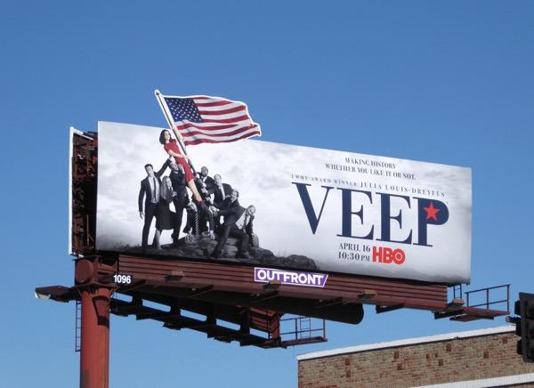 Veep 6 Marine Corps War Memorial spoof billboard