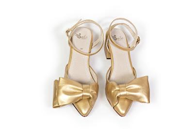 Sala Chaussures Atalanta Petite in Gold
