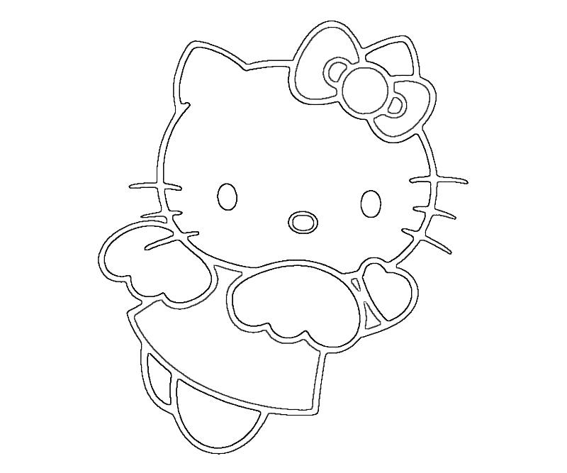 Printable Hello Kitty Hello Kitty Play Coloring Pages high quality