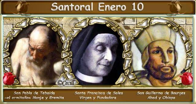 Resultado de imagen de Santoral del 10 de enero