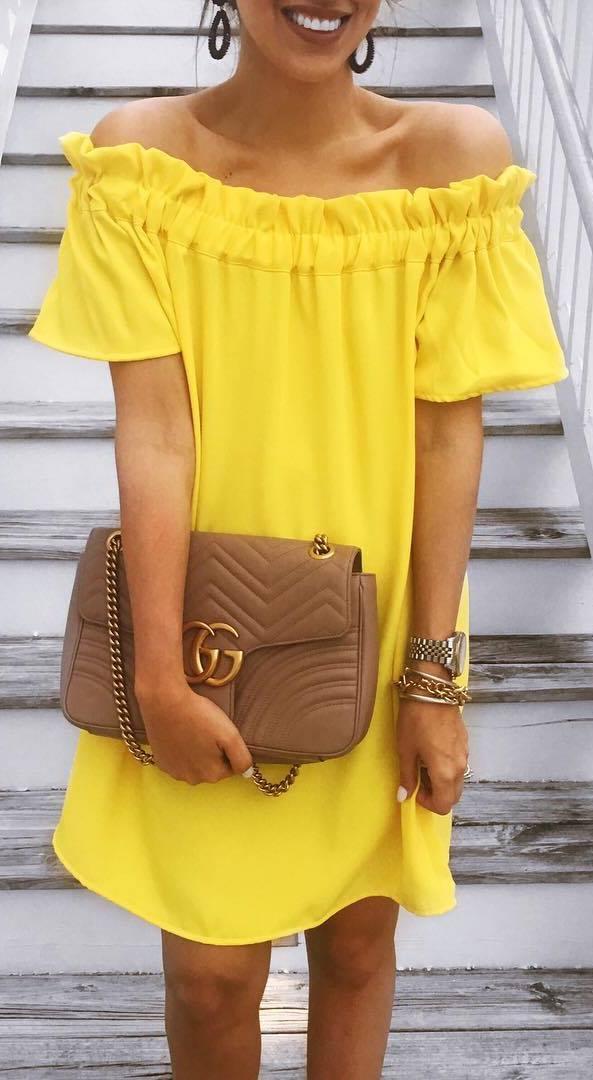 trendy ootd: dress + bag