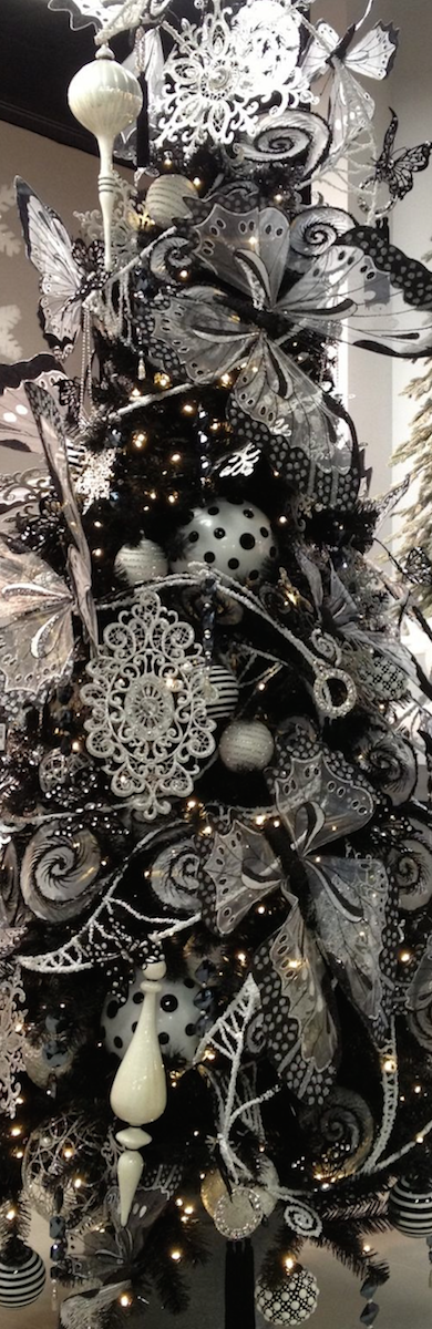Black/White/Silver Christmas Tree