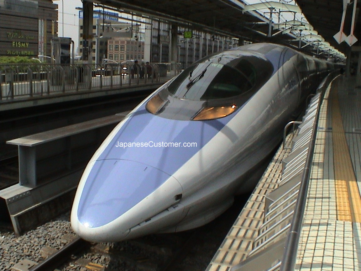 Japan's Shinkansen bullet train Copyright Peter Hanami 2005