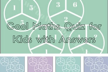 Cool Maths Quiz for Kids with Answers