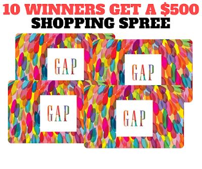 Gap Shopping Spree Giveaway- 10 Winners