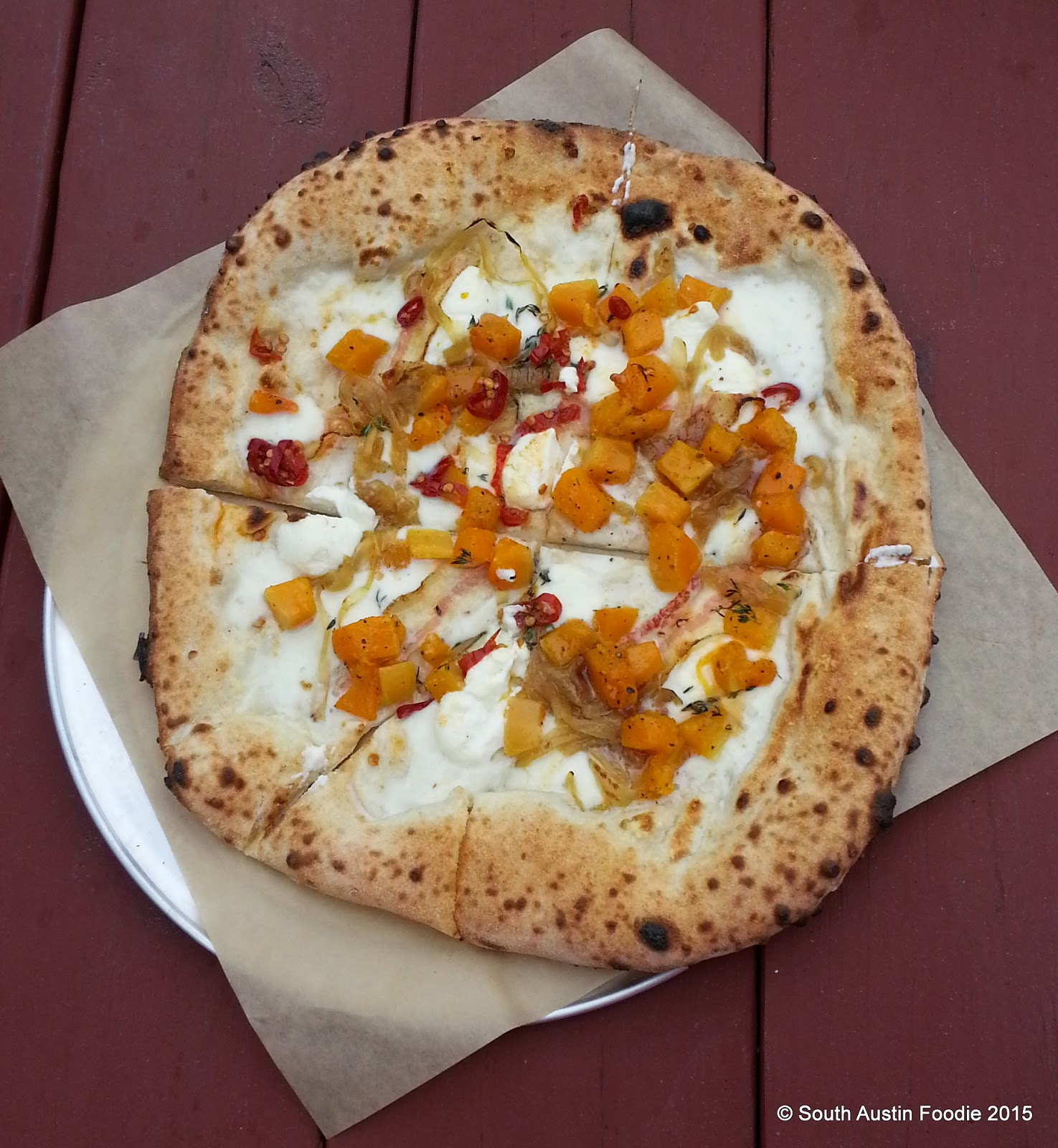 Neapolitan pizza (butternut squash) from 40 North food trailer