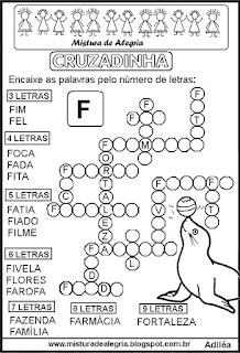 Cruzadinha com a letra F