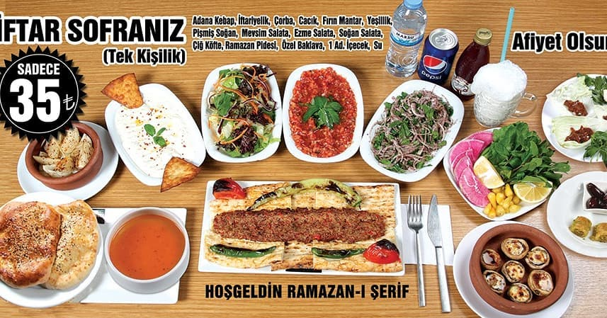 haşim usta adana iftar menüsü adana iftar mekanları 2019 adana iftar menüleri 2019 adana iftar menüsü fiyatları 2019