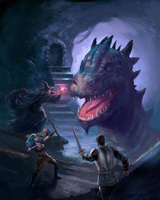 Dragon D&D painting by Jeff Ward
