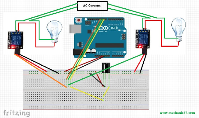 Make Ir receiver Home Automation Circuit