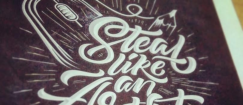 DIY project - Membuat Sendiri Poster Handwrite / Typography