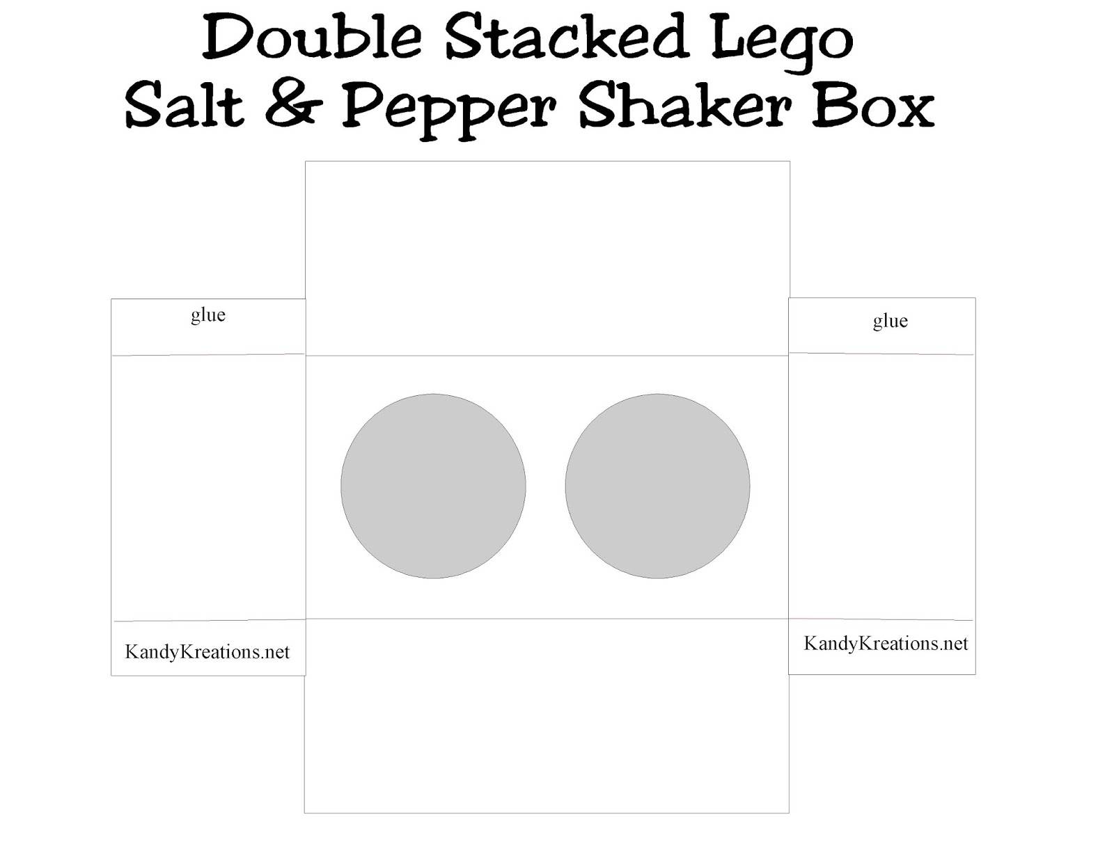 Double Stacked Lego Salt and Pepper Shaker Printable Box
