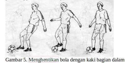 Teknik menghentikan bola dengan kaki bagian dalam