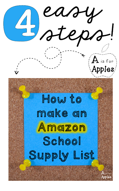 4 easy steps to make an Amazon school supply list