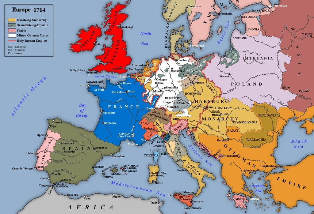Europe 1714