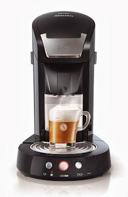 Cafetera Senseo Latte, color negro, vista frontal