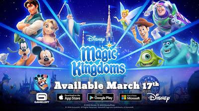 《Disney Magic Kingdoms》將於2016年3月17日 正式登場!
