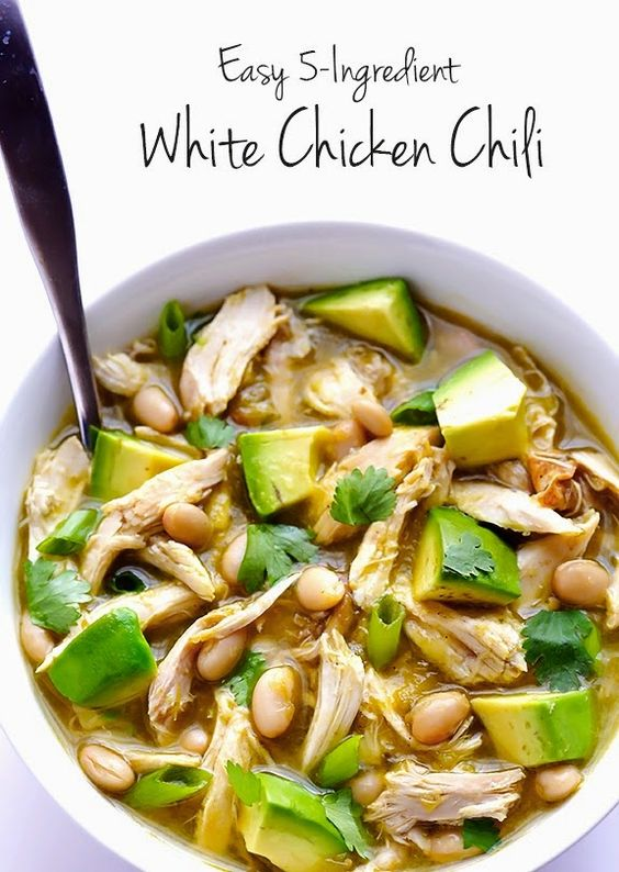 9021 ratings    | 5-INGREDIENT EASY WHITE CHICKEN CHILI #5INGREDIENT #EASY #WHITE #CHICKEN #CHILI