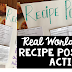 Real World Math #1 - Recipe Poster Activity