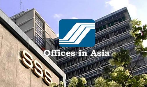 List of SSS Representative Offices in Asia