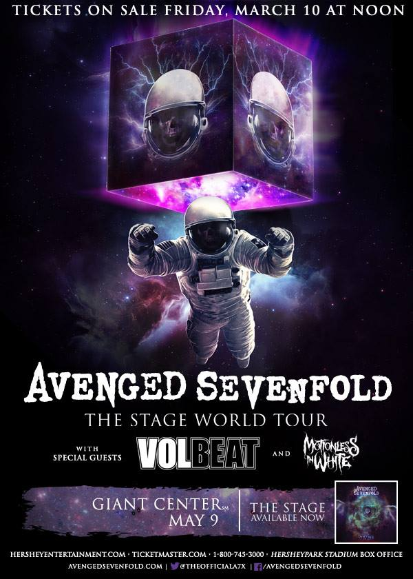 Avenged Sevenfold Just Confirmed A New Show Of The Stage World Tour Band Said Were Coming Back To US Hershey Our Fan Club Pre Sale Starts