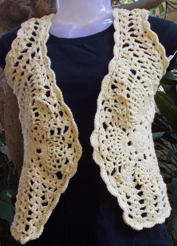 Sweet Nothings Crochet Cute Pineapple Bolero