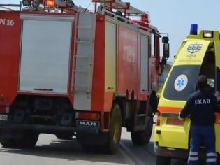 Αποτέλεσμα εικόνας για ασθενοφόρο πήρε φωτιά
