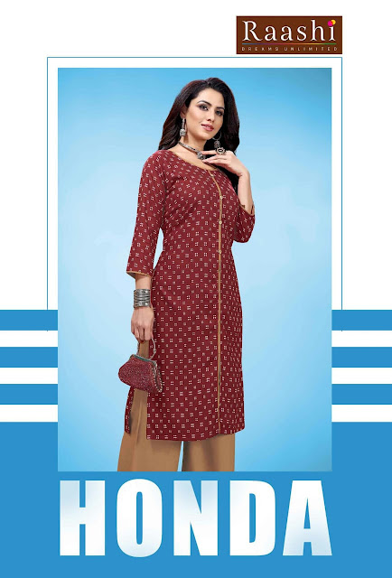 Raashi honda kurtis with palazzo buy wholesale