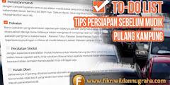 Tips Persiapan Sebelum Mudik Pulang Kampung - To Do List