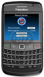 Reboot Device: aplicacion util que reiniciará el teléfono de inmediato con sólo un clic de un botón. No hay necesidad de sacara la beteria o combinaciones de botones para reiniciar el dispositivo! Reboot Device puede ser usado para reiniciar el teléfono, forzar la salida de una aplicación congelada o incluso reiniciar el teléfono en los casos en que se bloquea por completo. Todo lo que necesita es un simple clic de un botón! Características: 1) Fácil operación con un solo clic.2) Fácil de usar.3) Compatible con OS 4.2.1 y superiores. Compatibilidad BlackBerry OS 4.6 o Superior BlackBerry 85xx, 89xx, 9000,