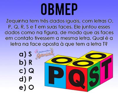 OBMEP 2017 - Zequinha tem 3 dados iguais
