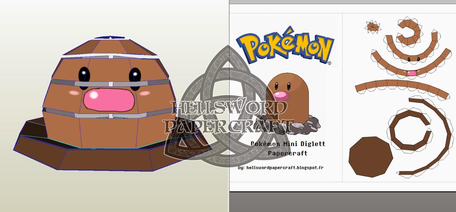 Pokemon Papercraft Templates Easy Dibujos Para Colorear